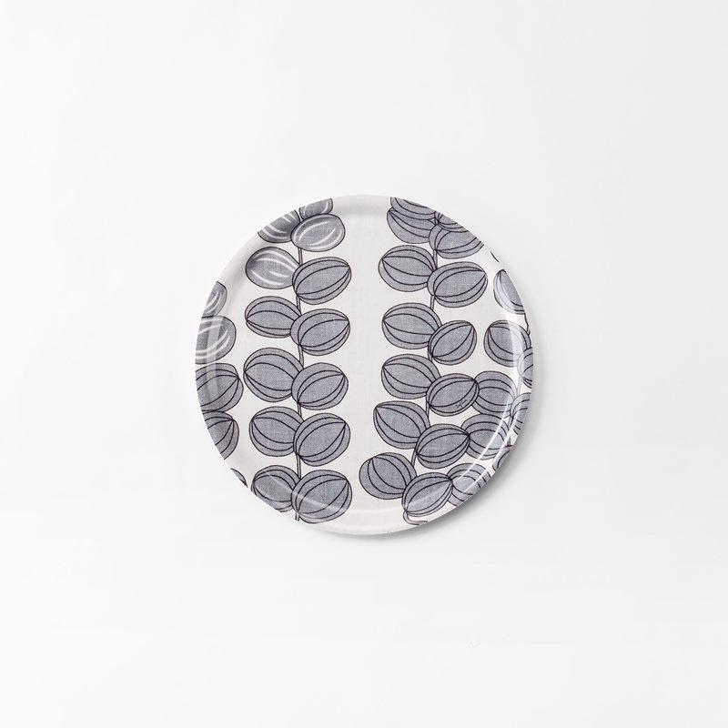 Tray Celotocaulis - 31 cm, Celotocaulis, Round, Grey | Svenskt Tenn