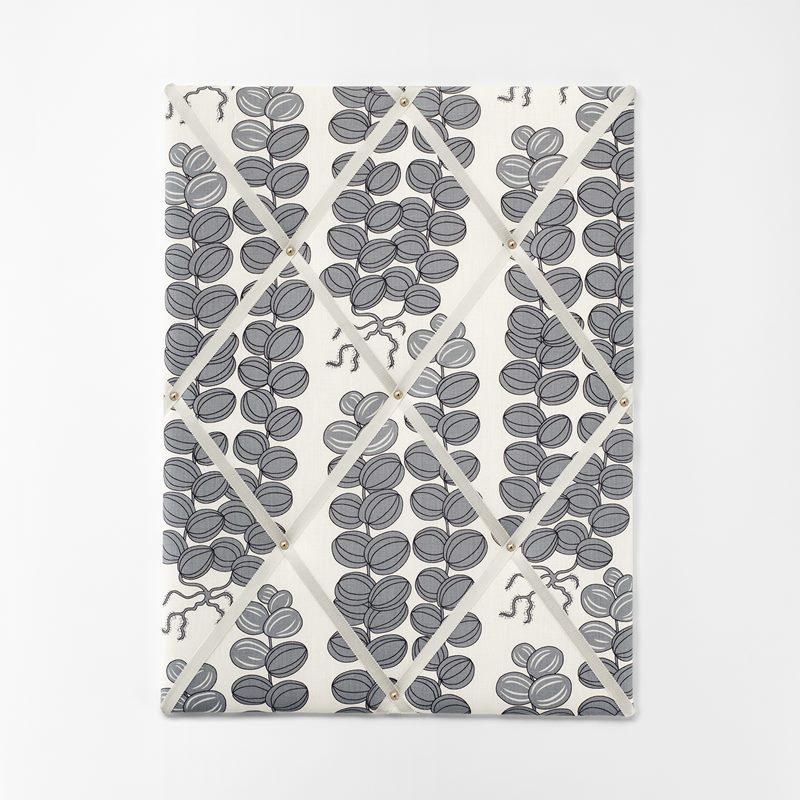Noticeboard - Large, Linen, Celotocaulis, Grey | Svenskt Tenn