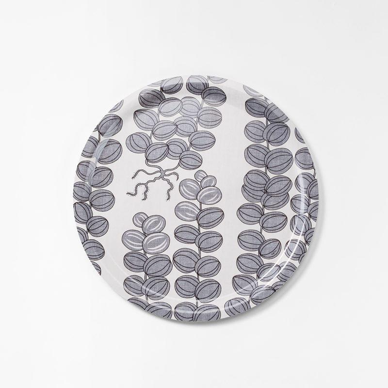 Bricka Celotocaulis - 49 cm, Celotocaulis, Rund, Grå | Svenskt Tenn