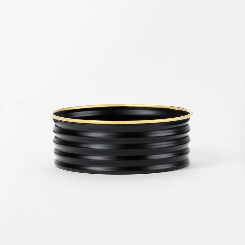 Coaster - Brass, Black | Svenskt Tenn