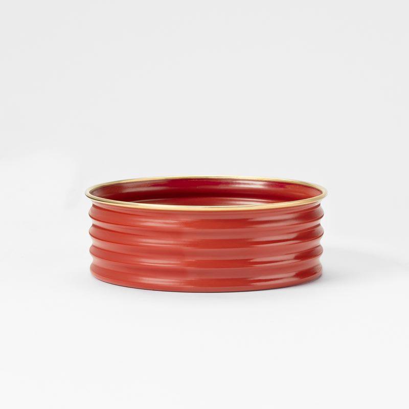 Coaster - Brass, Red | Svenskt Tenn