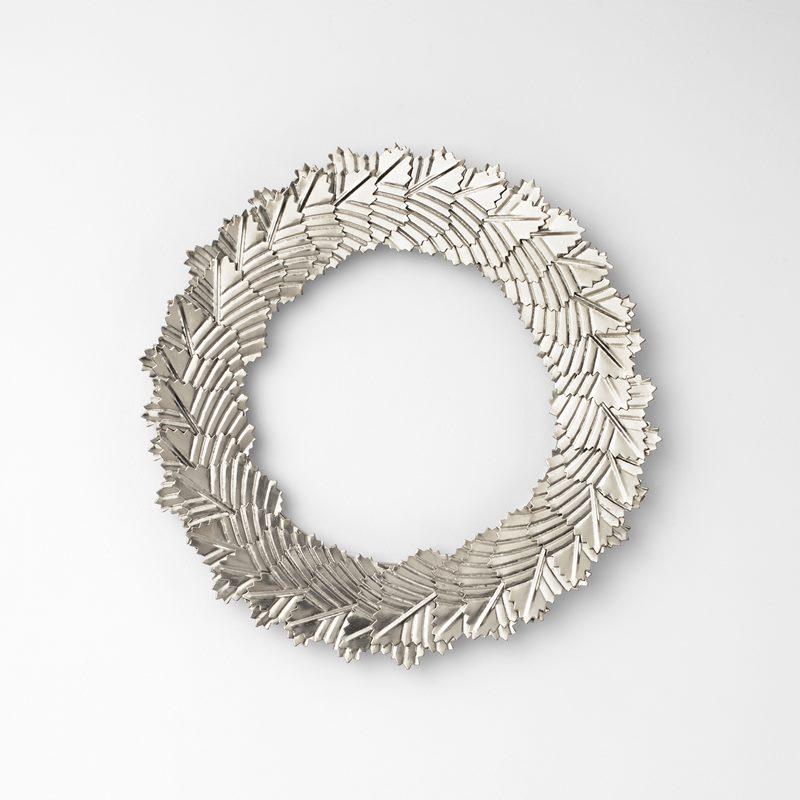 Wreath Leaves Small - Small, Chrome | Svenskt Tenn