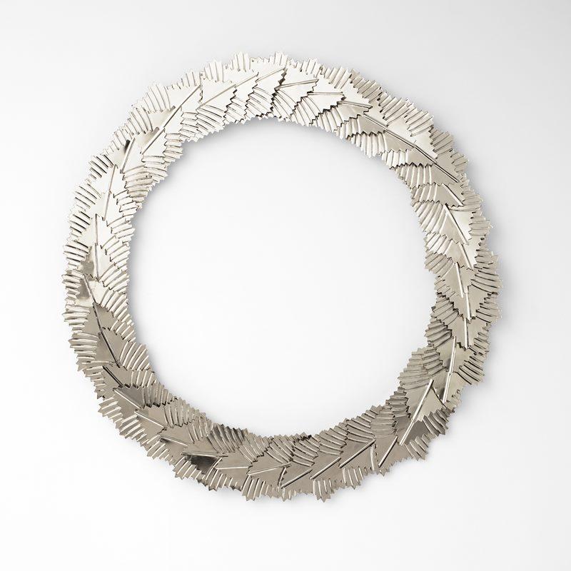 Wreath Leaves Big - Large, Chrome | Svenskt Tenn