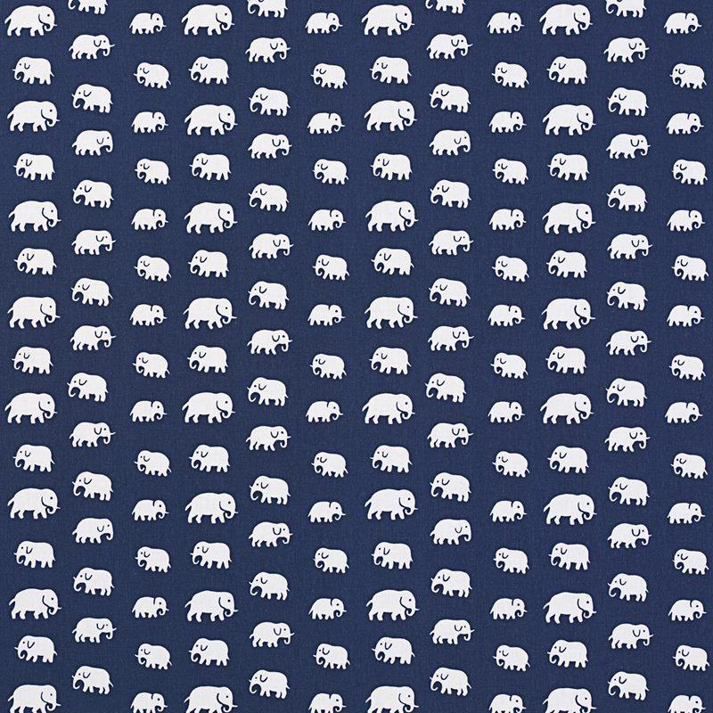 Textil Elefant - Bomull, Elefant, Blå   Svenskt Tenn