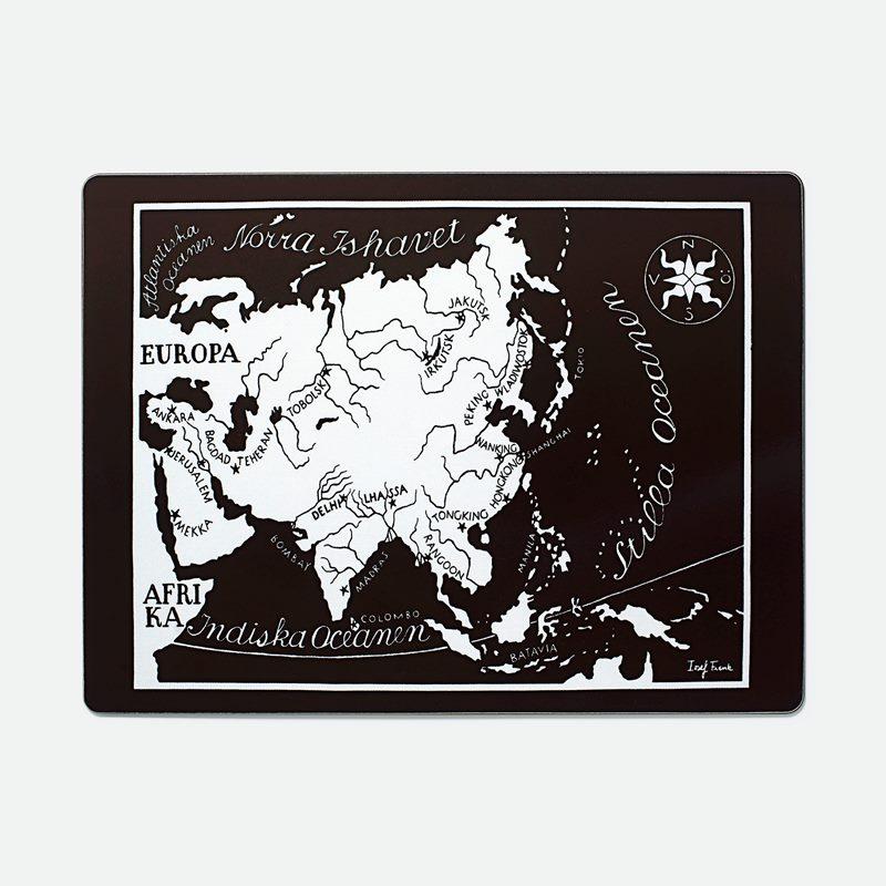 Placemat Worldmap - Asien, Rectangle | Svenskt Tenn