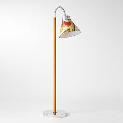 Floor Lamp 1838 - Nickel plated Brass, Cognac, Josef Frank | Svenskt Tenn