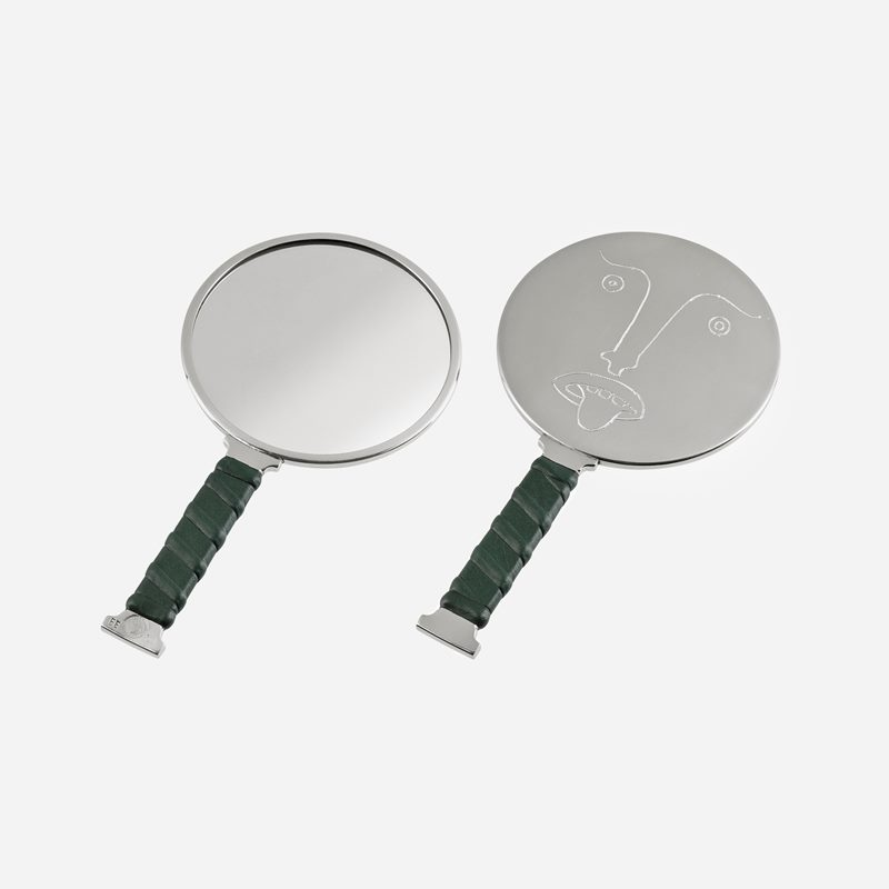 Mirror Self Image Nr 1 - Pewter Leather | Svenskt Tenn