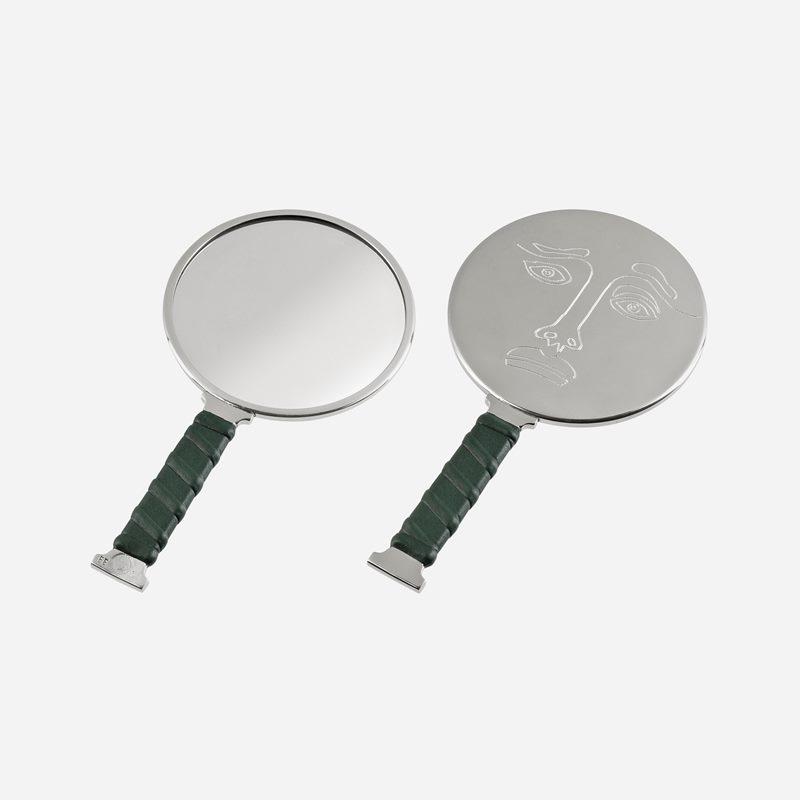 Mirror Self Image Nr 2 - Pewter Leather | Svenskt Tenn
