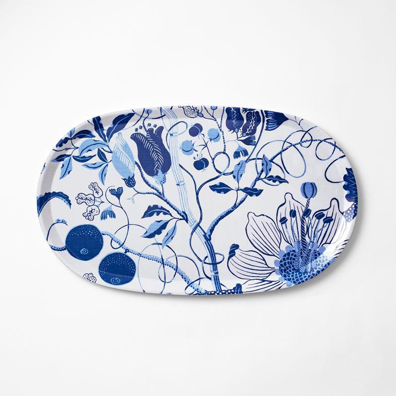 Tray La Plata - 32x55 cm, La Plata, Oval, Blue | Svenskt Tenn