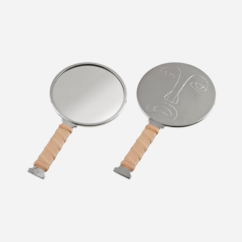 Mirror Self Image Nr 4 - Pewter Leather | Svenskt Tenn