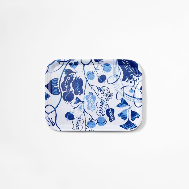 Tray La Plata - 27x20 cm, La Plata, Rectangle, Blue | Svenskt Tenn