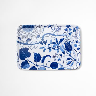 Tray La Plata - 53x38 cm, La Plata, Rectangle, Blue, Josef Frank/Svenskt Tenn | Svenskt Tenn