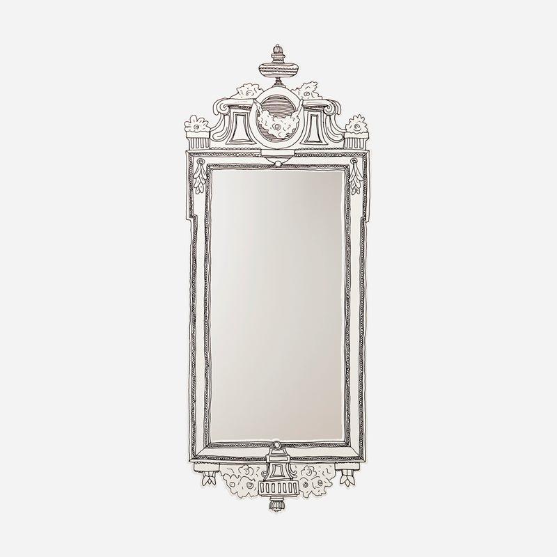 Spegel Gustaviansk - MDF, Vit | Svenskt Tenn