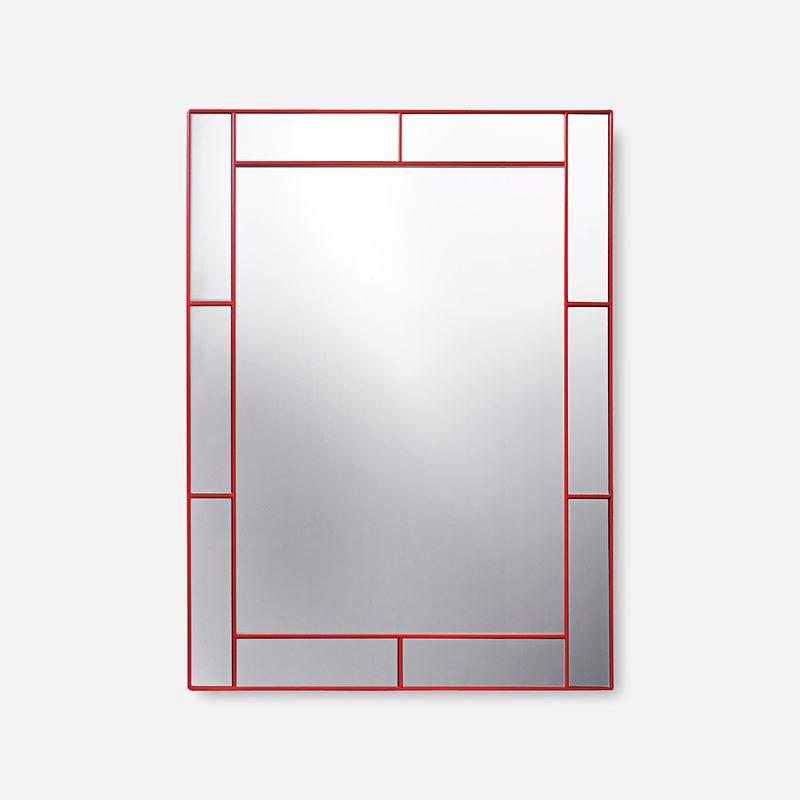 Mirror with Mirrorframe - Wood, Red | Svenskt Tenn