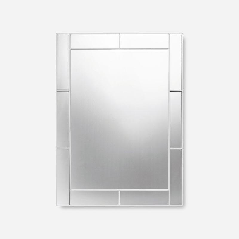 Mirror with Mirrorframe - Wood, White | Svenskt Tenn