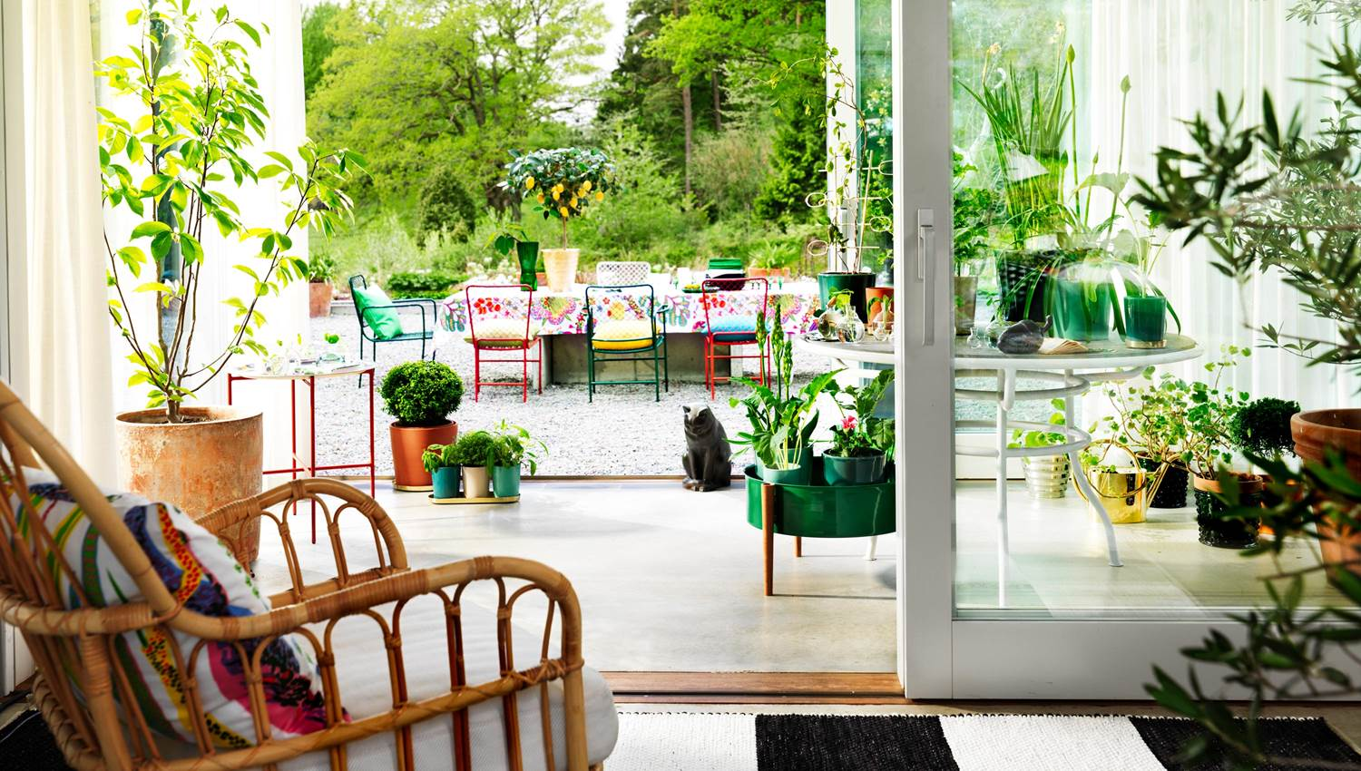 Decorate the outdoor room with Svenskt Tenn furniture & textile