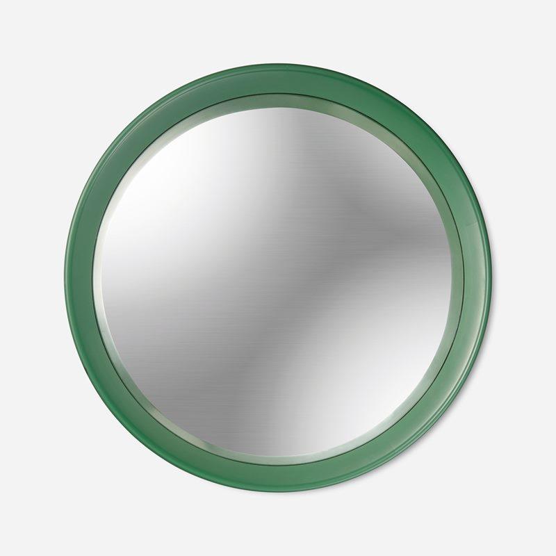 Mirror Round Convex - Green | Svenskt Tenn