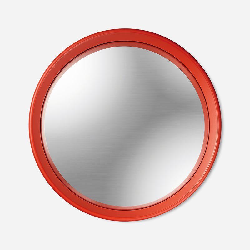 Mirror Round Convex - Red | Svenskt Tenn