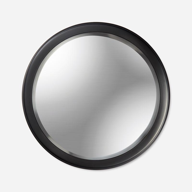 Mirror Round Convex - Black | Svenskt Tenn