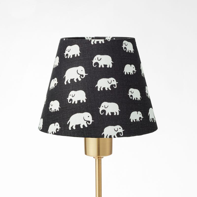 Lampshade 2444 - Linen, Elefant, Black | Svenskt Tenn