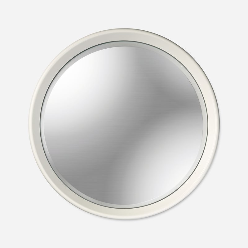 Mirror Round Convex - White | Svenskt Tenn