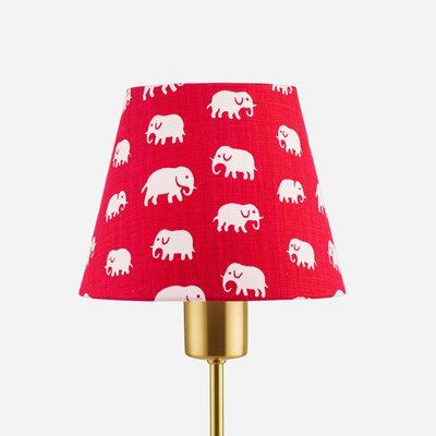 Lampshade 2444 linen elefant red estrid ericson svenskt tenn svenskt tenn