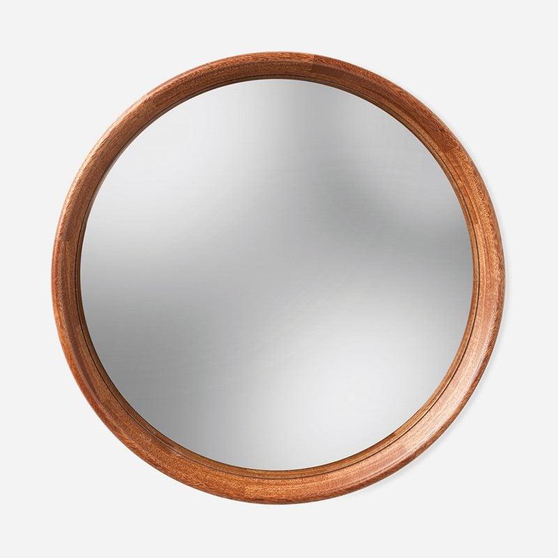Mirror Round Convex - Mahogany, Mahogany | Svenskt Tenn