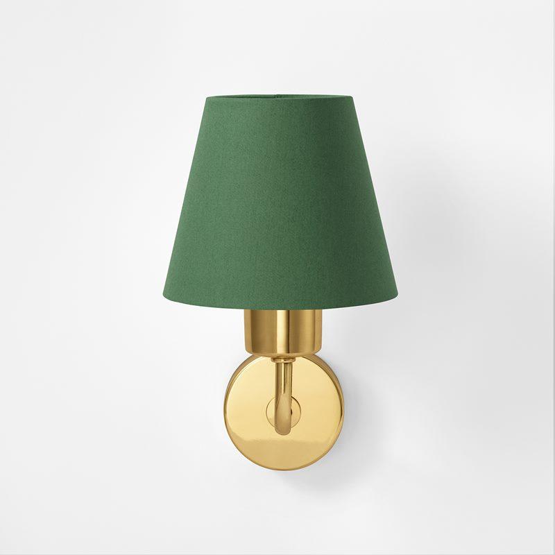 Lampshade 2483 - Cotton Satin, Green | Svenskt Tenn