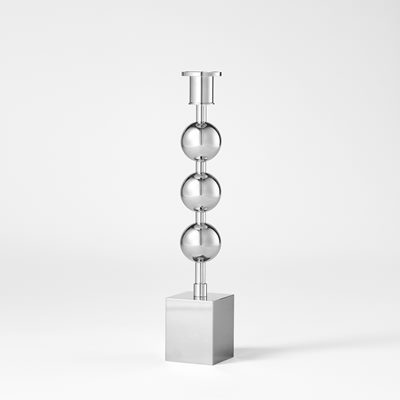 Candle Holder Three Globes - Silver plated, Sigurd Persson | Svenskt Tenn