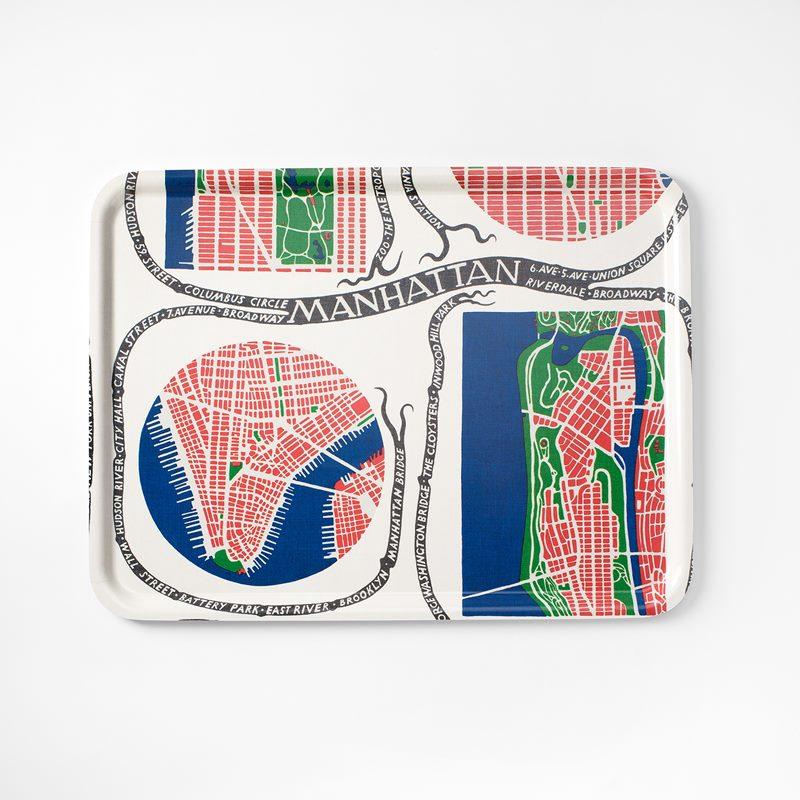 Bricka Manhattan - 60x45 cm, Manhattan, Rektangulär | Svenskt Tenn