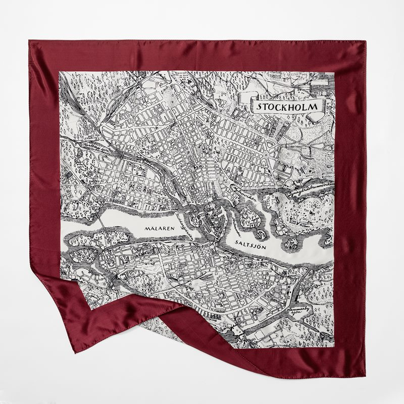 Scarf Stockholm - 90x90 cm, Siden, Röd | Svenskt Tenn