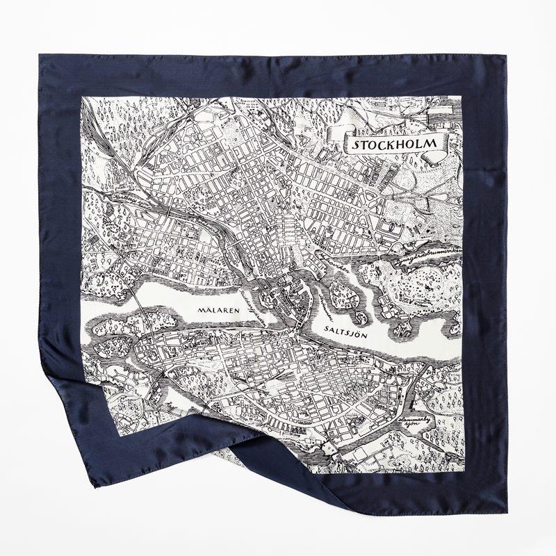 Scarf Stockholm - 90x90 cm, Siden, Blå | Svenskt Tenn