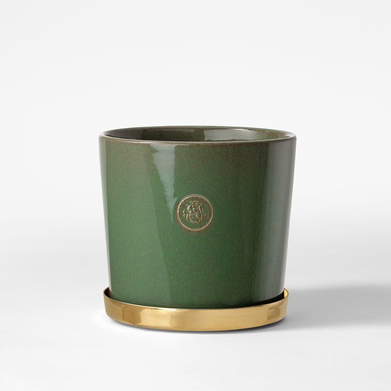 Pot Svenskt Tenn - 16 cm, Stoneware, Verdigris | Svenskt Tenn