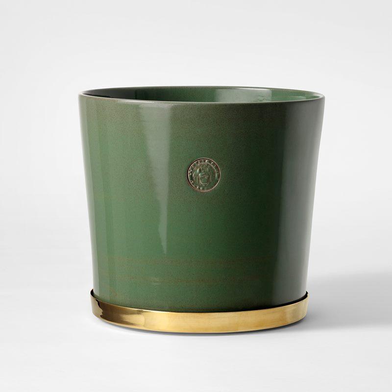 Pot Svenskt Tenn - 23,5 cm, Stoneware, Verdigris | Svenskt Tenn