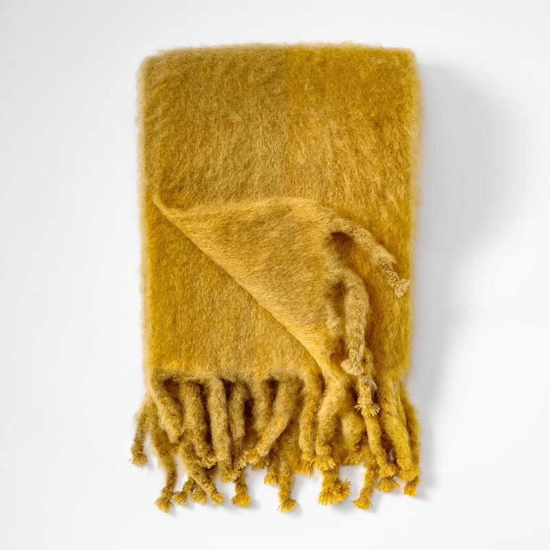 Throw Mohair - 130x180 cm, Mohair wool, Yellow | Svenskt Tenn