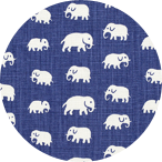 Elefant Blå