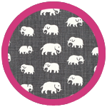 Elefant Grey Dark Pink