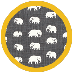 Elefant Grey Yellow