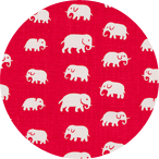 Elefant Röd