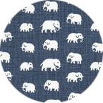 Elefant Stormblå